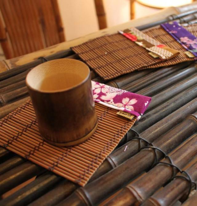 【保青、煙燻竹杯-小尺寸】天然竹皮竹節保青技術處理
