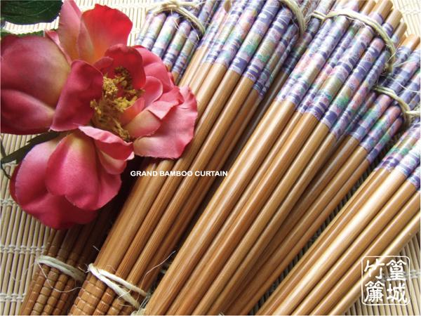 印花系列【柒/和風圖騰筷/10雙】和風藍紫色圖紋竹筷