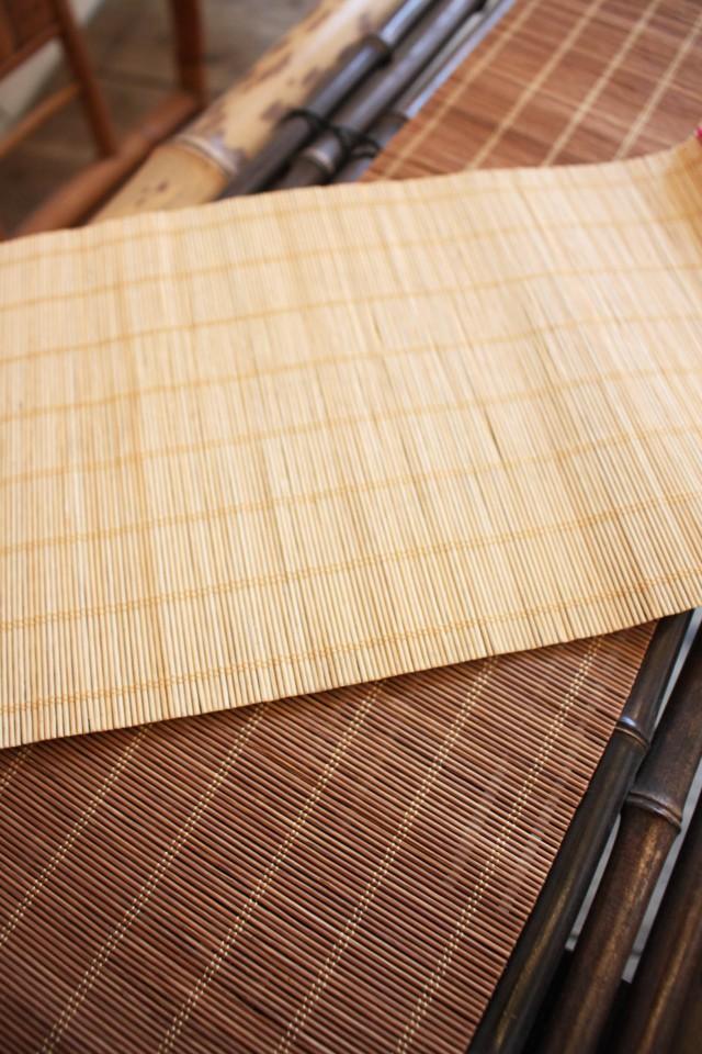 【型號:130】精緻原竹米白色超細抄紙簾0.1cm