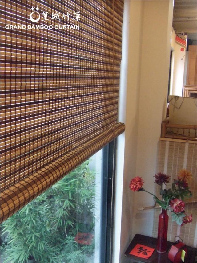 【型號:123】※缺貨中※竹簾時尚結合碳化深咖+咖啡色+米白色漸層編織