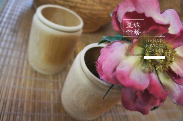 〔花瓶-造形竹筒/11.5*8.5cm〕用於花器/筆筒/置物筒/竹筒/收納文具
