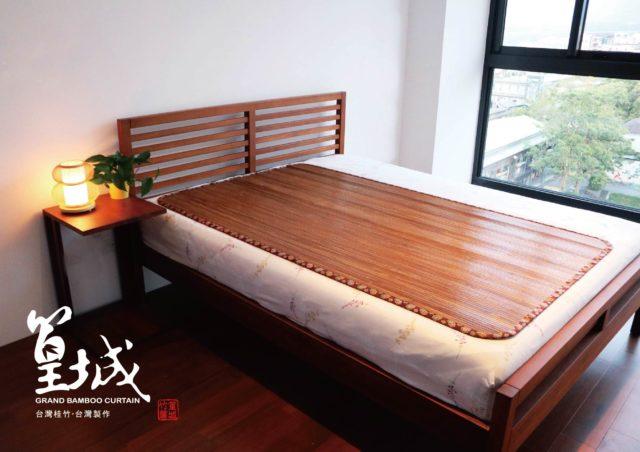 〔台灣炭化涼蓆加大單人3.5*6尺〕草蓆竹席床墊,外銷款