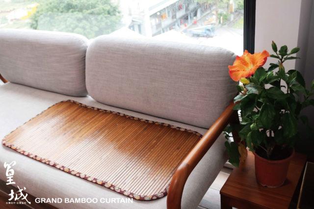 沙發專用涼蓆椅墊〔雙人坐沙發椅墊2人坐/炭化款〕椅套、寵物墊,台灣桂竹和風精緻布