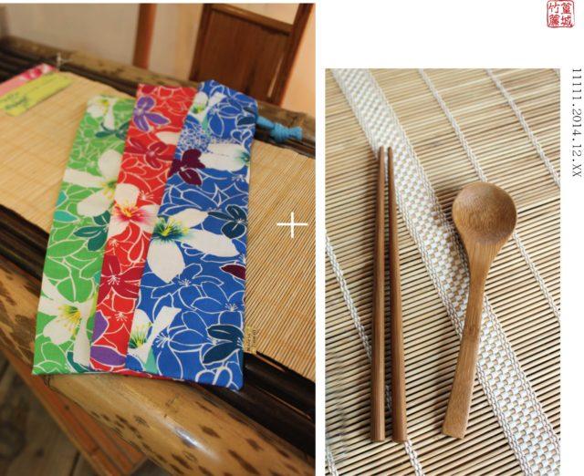 台灣製作〔油桐花款-小〕伴手禮、禮品、環保餐具組、婚禮小物
