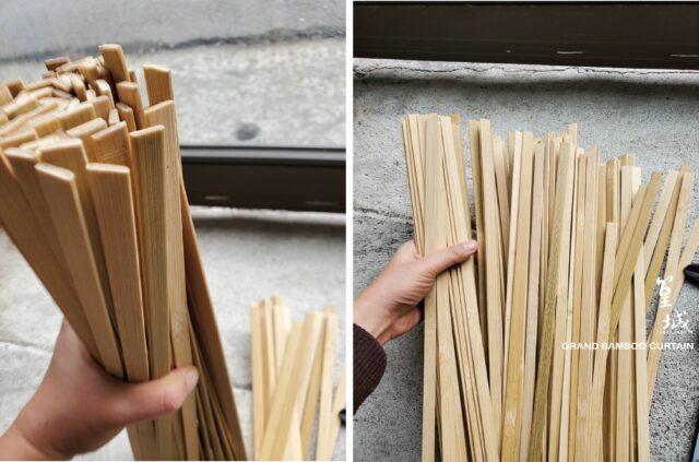 篁城竹素材【加厚扁竹條-寬1X0.25長度60/90/180公分/去青/50支裝】加厚竹材料、美勞、竹藝術材料、裝置藝術