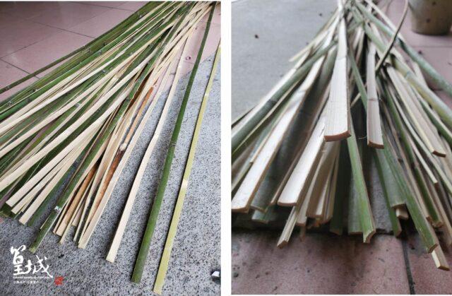 【篁城】《裝置藝術用-夢想竹條-長度.約4.3尺X寬1.2-1.5厚度0.3公分一把200片》台灣桂竹竹編骨架/竹材料竹片