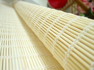 【型號:150】※缺貨中※原竹米白色雙線經典編織竹簾款