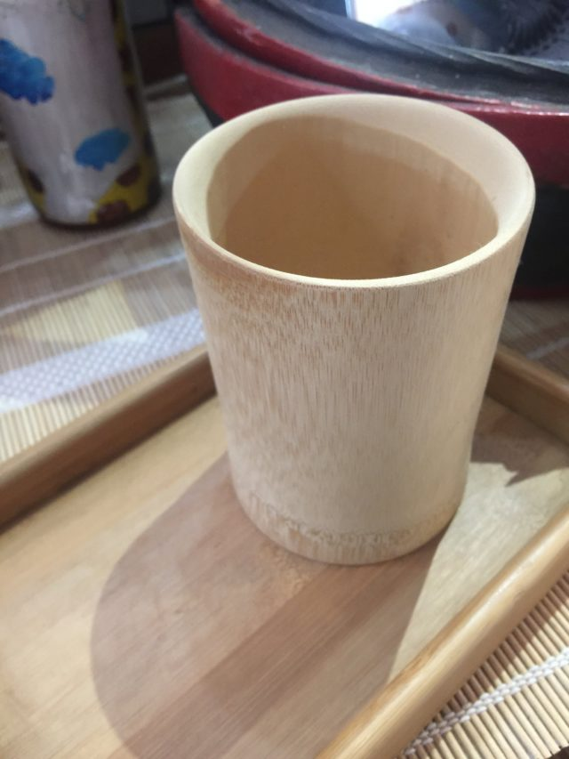 〔曲線竹杯(大)無漆款〕純天然素材,台灣本土製作,送禮、公司贈品