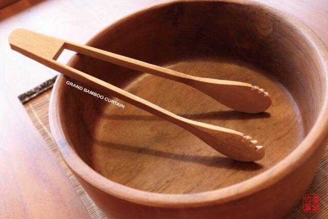 竹製料理匙(沙拉夾/麵包夾)不沾鍋可用,煎鍋料理夾/烤肉夾/烤箱夾/氣炸鍋夾